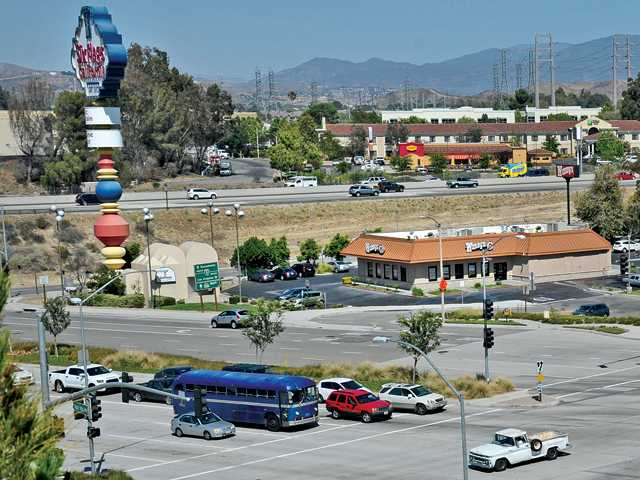 The Wendy's as seen from Six Flags Magic Mountain. Dan Watson/The Signal