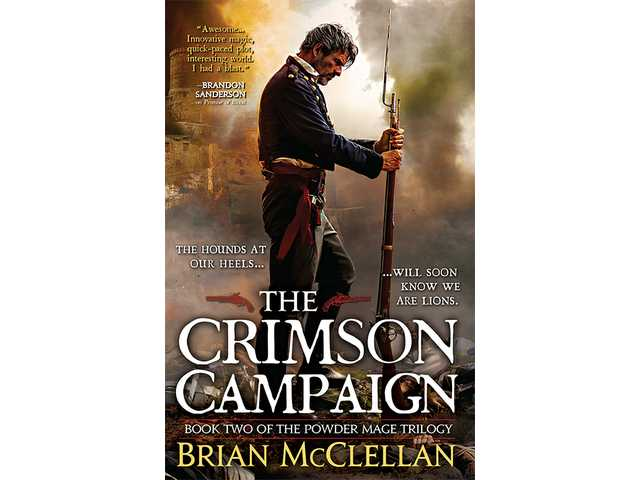 """The Crimson Campaign,"" the second book in the Powder Mage Trilogy by BYU graduate Brian McClellan."