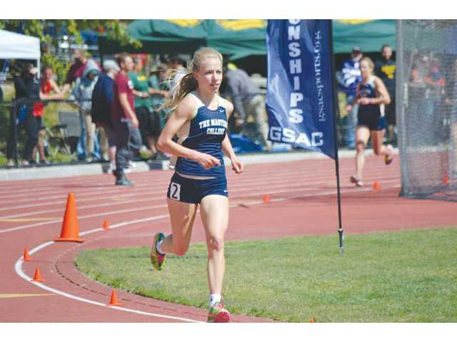 The Masters's College runner Karis Frankian earned All-America status at the NAIA Track and Field Championships in the 10,000-meter race. Photo courtesy of TMC Athletics