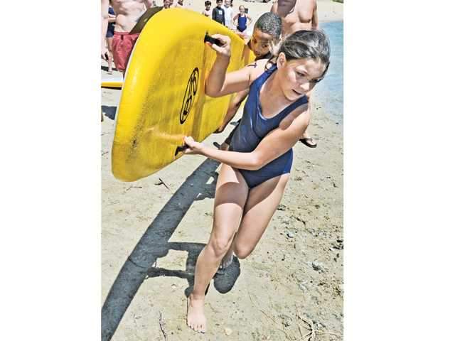 Junior lifeguards compete at Castaic Lake