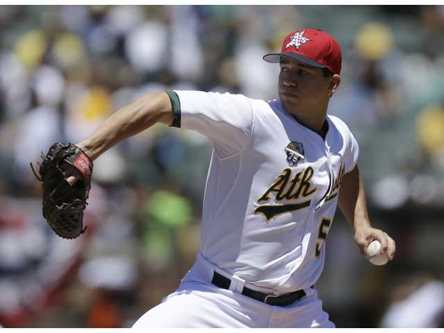 Athletics and former Saugus High pitcher Tommy Milone is headed to Triple-A Sacramento.