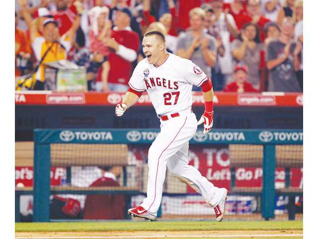 Los Angeles Angels outfielder Mike Trout was voted as an American League starer for the 2014 MLB All-Star Game.