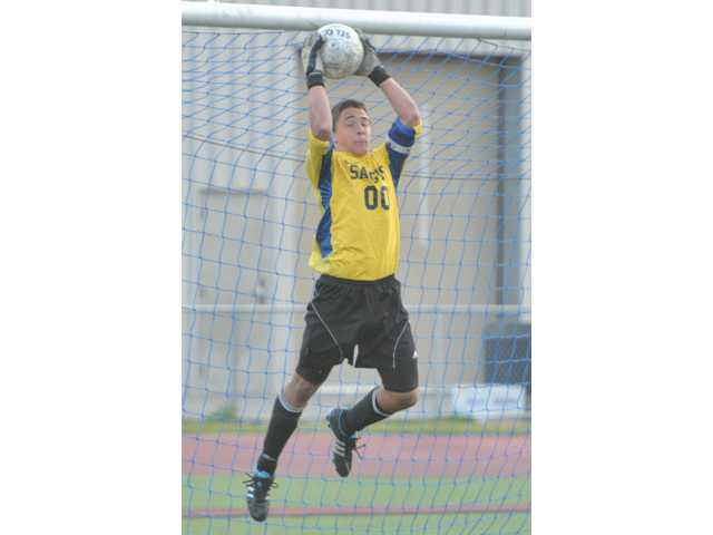 Saugus goalkeeper Noah Maynard was an All-Foothill League and All-Santa Clarita Valley first-team selection.