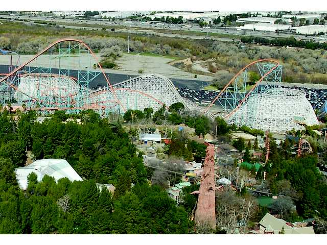 A view of the mammoth Colossus roller coaster at Six Flags Magic Mountain. Signal file photo