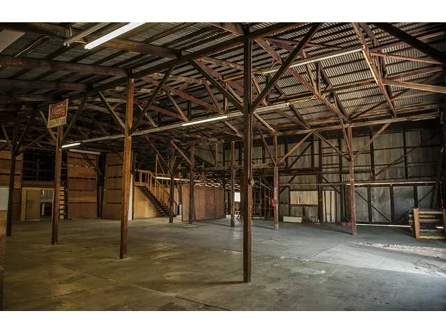 Interior view of the former Newhall Lumber building. Until it is leased or sold, the building is available for filming. Courtesy photo