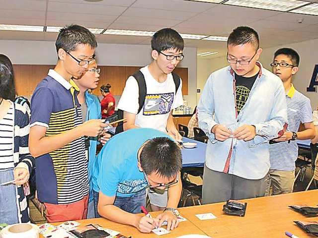 Chinese students celebrate New Year's Day and Martin Luther King Day during the first day of the English Immersion Summer Camp on July 14. Photo courtesy of Saugus High School