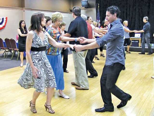 "Contestants practice for the ""Dancing with Our Stars"" fundraiser for local nonprofits, coming up August 22 at the Santa Clarita Valley Performing Arts Center. Alexa Ferrante/The Signal"