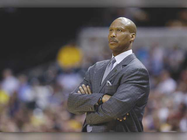 In this file photo, then-Cleveland Cavaliers coach Byron Scott watches the game against the Indiana Pacers in Indianapolis. Scott said this weekend that he has been hired by the Lakers, but the club insisted Sunday that no deal has been reached.