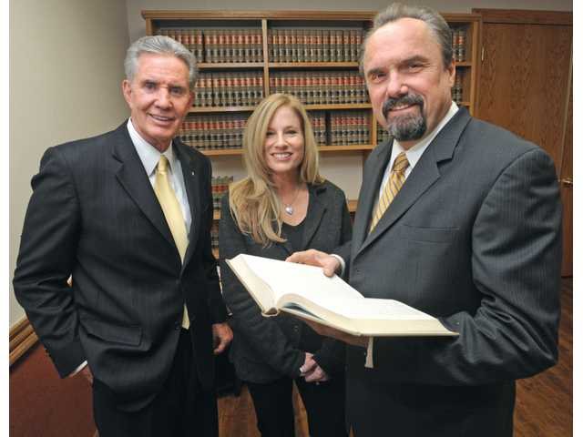 From left, Richard Patterson, Susan Owen and Gregory Owen of Owen, Patterson and Owen Personal Injury Law in Valencia.