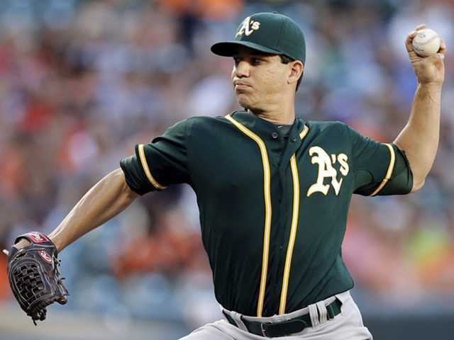 Saugus graduate Tommy Milone was traded by the Oakland Athletics to the Minnesota Twins for outfielder Sam Fuld on Thursday.