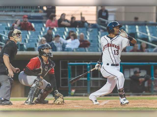 JetHawks right fielder Danry Vasquez has a .283 batting average and 41 RBIs so far this season in Lancaster.