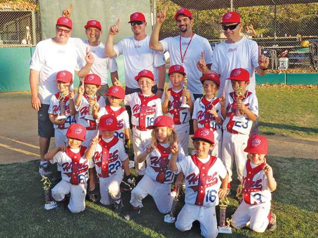 The Hart Boys 5U All-Star team goes home with the trophy for sweeping the Shetland Palooza Tournament in Toluca Lake in June. Courtesy photo