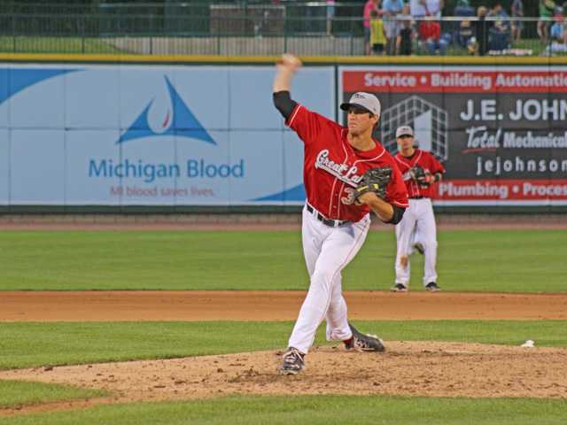 Saugus graduate Kyle Hooper is pitching for the Low-A Great Lakes Loons of the Los Angeles Dodgers organization. Photo courtesy of the Great Lakes Loons