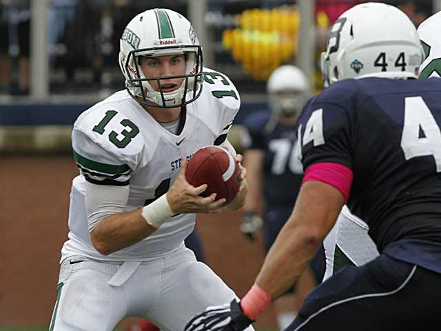 Former Canyon quarterback Jonathan Jerozal went to Stetson University knowing its football program would not play games until his second year. Photo courtesy of Stetson University Athletics