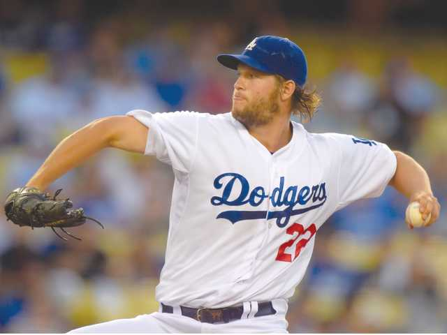 Dodgers pitcher Clayton Kershaw throws during the first inning of Thursday's game in Los Angeles.