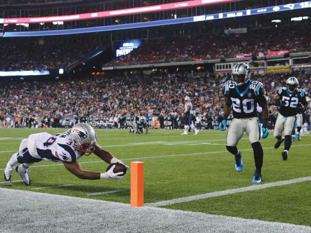 Vereen scores twice in Patriots win
