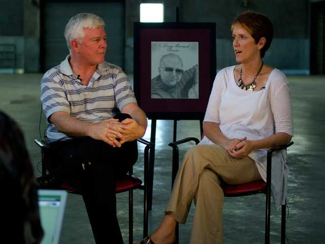 "Ron and Nola Chandler, parents of Brandon Chandler, discuss the Brand Chandler Foundation's start and mission in an episode of ""In the Warehouse."" Austin Dave / The Signal"