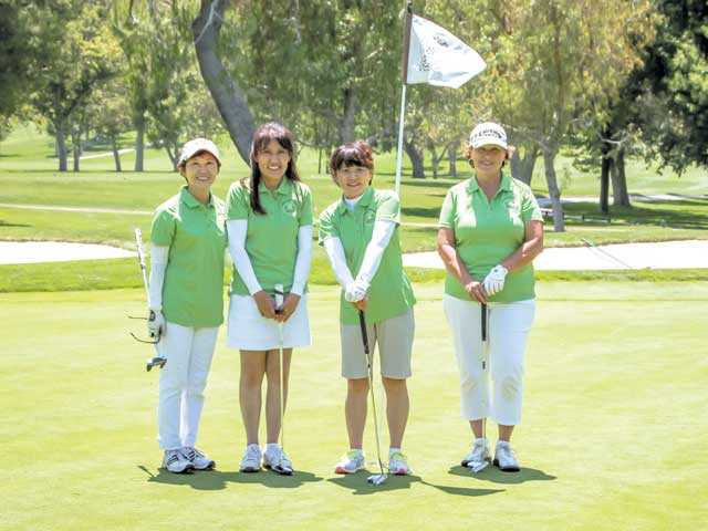 Players at the second annual Lorena Ochoa Charity Classic included: Chizuru Matsumoto; Kazuko Marty, American Hakko's accounting manager; Hakko Corp. President Kayoko Yoshimura; and Denise Rogers. American Hakko/Courtesy photo