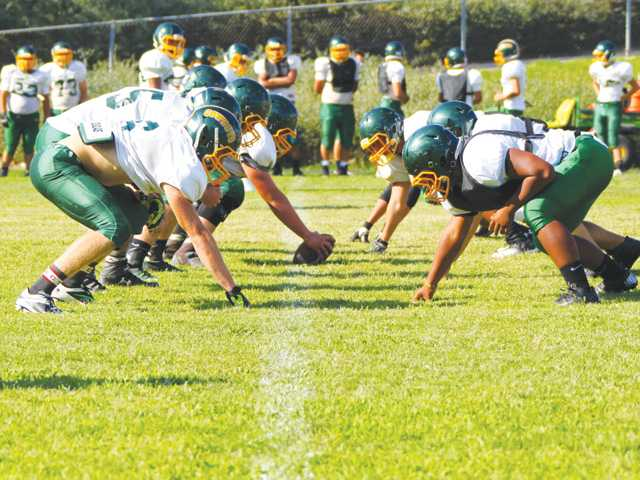 Canyon football camp: O-line filled with youth, potential