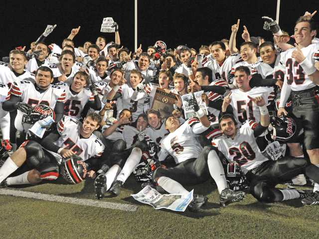 The Hart High football team has been getting a lot of attention thanks to last season's CIF-Southern Section Northern Division championship as well as the combo of Brady White and Trent Irwin. Signal file photo