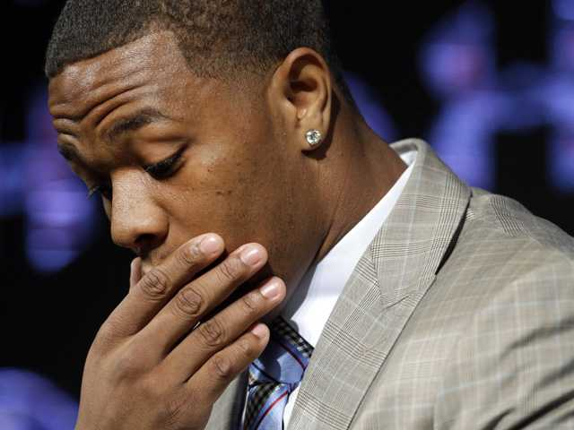 Ravens cut RB Ray Rice after release of video