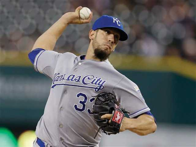 James Shields gives Royals division lead