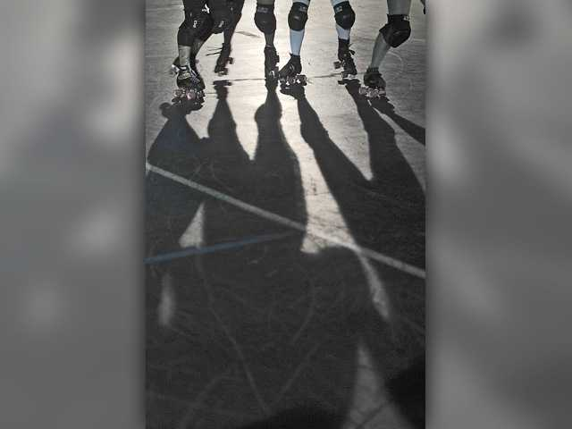 Skaters make their way around the rink. Signal photo by Katharine Lotze