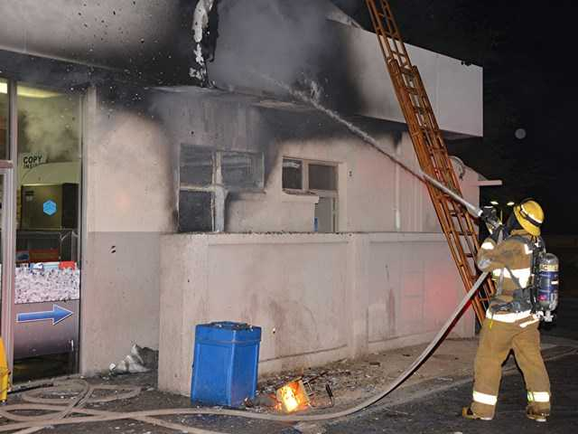 Fire doused at gas station in Newhall