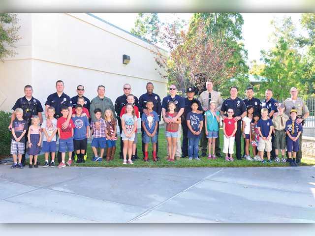 Elementary school honors heroes