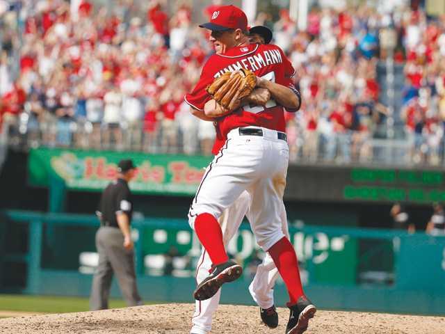 Jordan Zimmermann throws 1st Nationals no-hitter