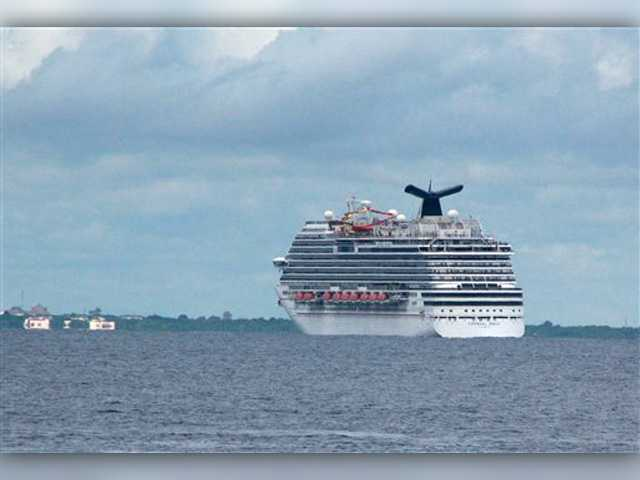 Coast Guard picks up blood sample from cruise ship
