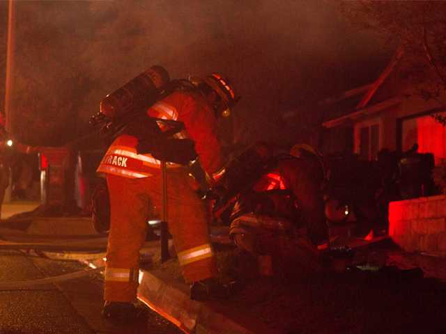 Late-night fire guts Canyon Country home