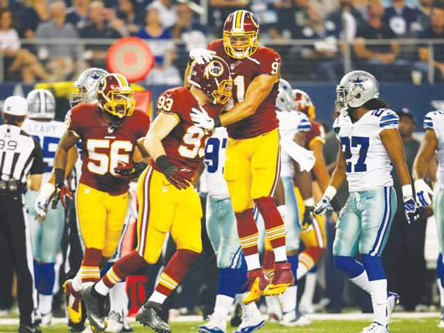 Redskins end Cowboys' 6-game streak