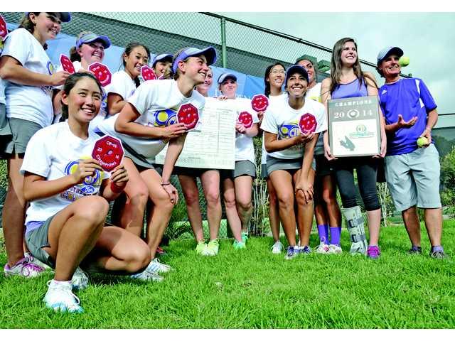 Valencia girls wins SCV's first CIF tennis championship