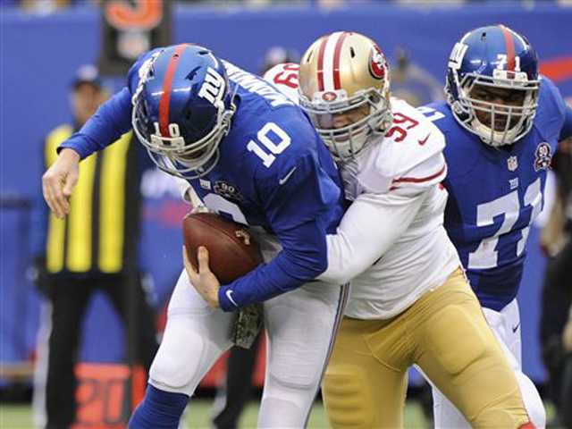 49ers' D leads win over Giants with 5 INTs