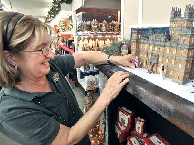 Christmas in miniature at 2 Newhall stores