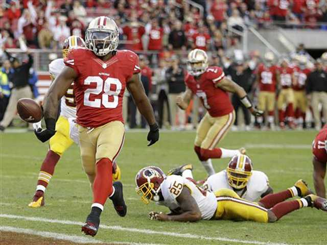 Hyde scores go-ahead TD, lifts 49ers past Redskins