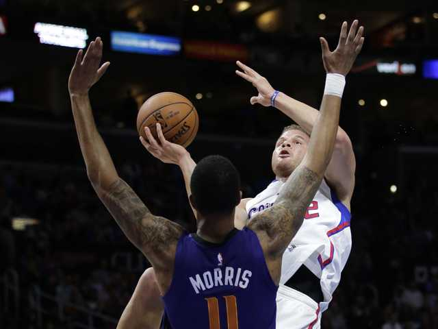 Clippers beat Suns in OT on Griffin's 3