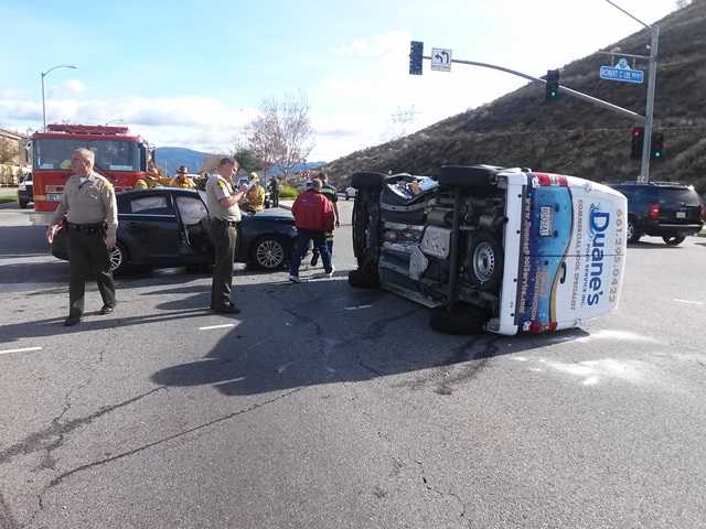 One taken to hospital in two SCV crashes today