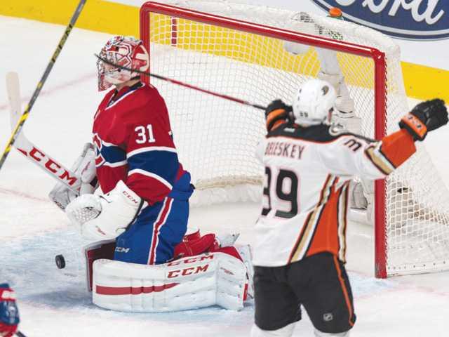 Beleskey scores in 3rd as Ducks beat Canadiens
