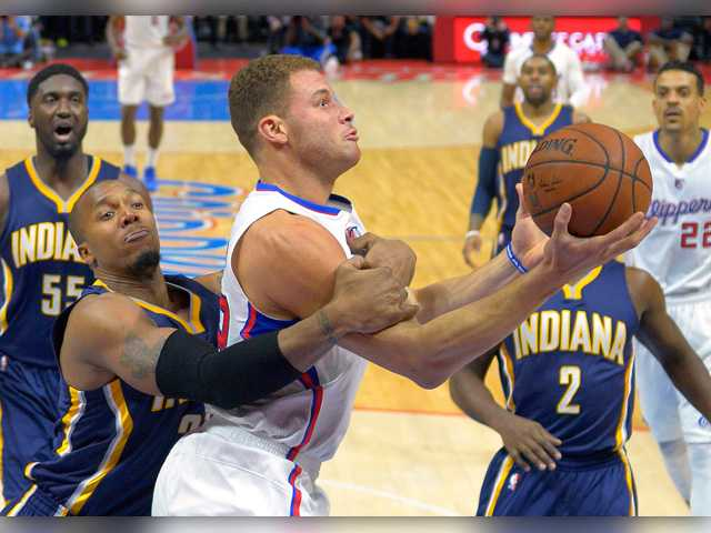 Clippers get by Pacers 102-100