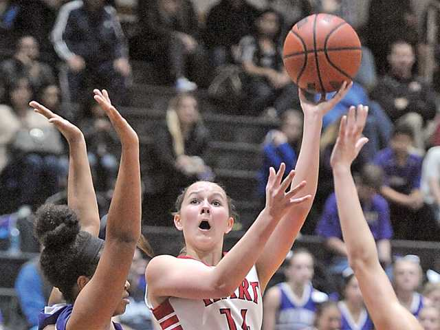 Determined Valencia girls basketball bests Hart