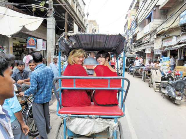 Student group returns  from exchange visit to India