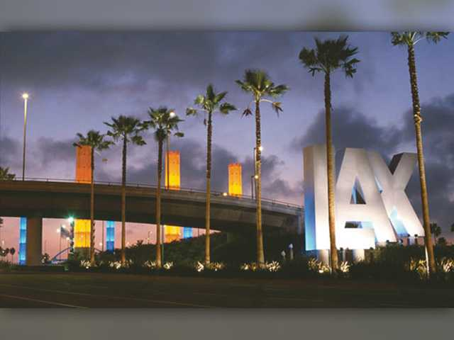 'Guardians of Light' Behind the Iconic Lit LAX Columns