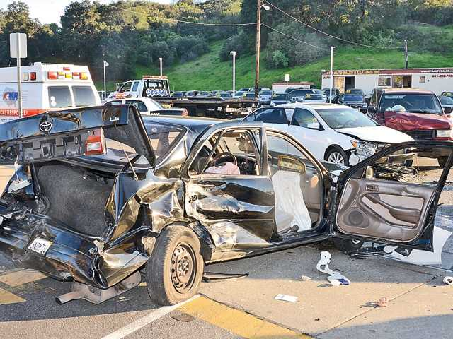 Three taken to hospital following Newhall crash