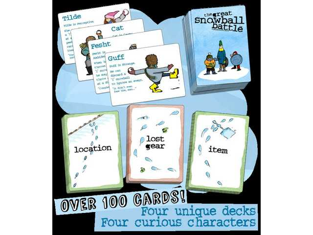The Great Snowball Battle: a snowball fight card game