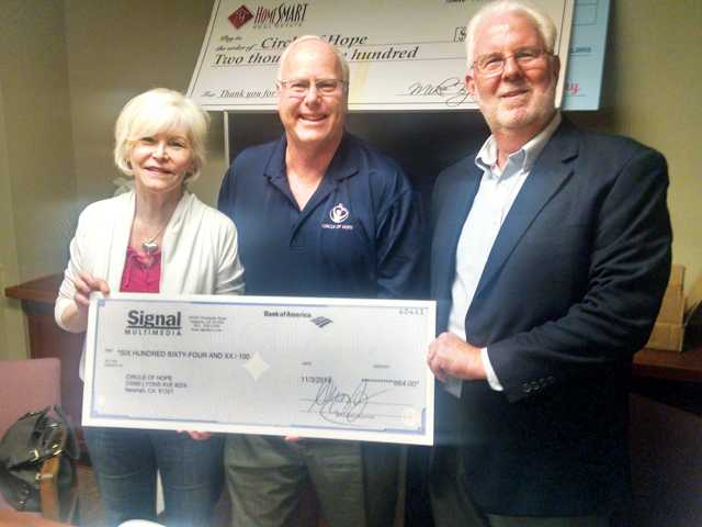 Signal readers support donation to nonprofit