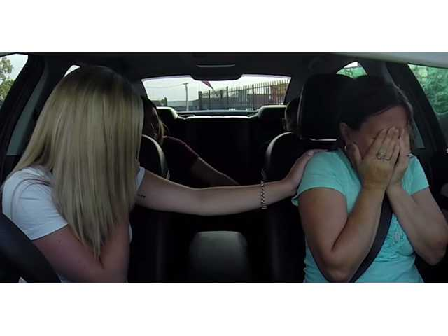 This grieving mom gets a huge surprise when she hears her name on the radio