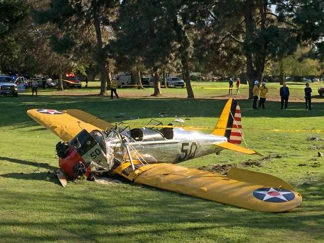 Harrison Ford survives crash-landing on golf course