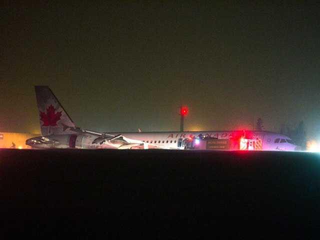 Air Canada plane skids off Halifax runway after hard landing